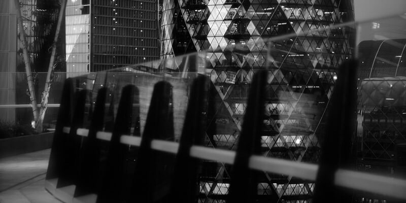Partial view of the London Gherkin building