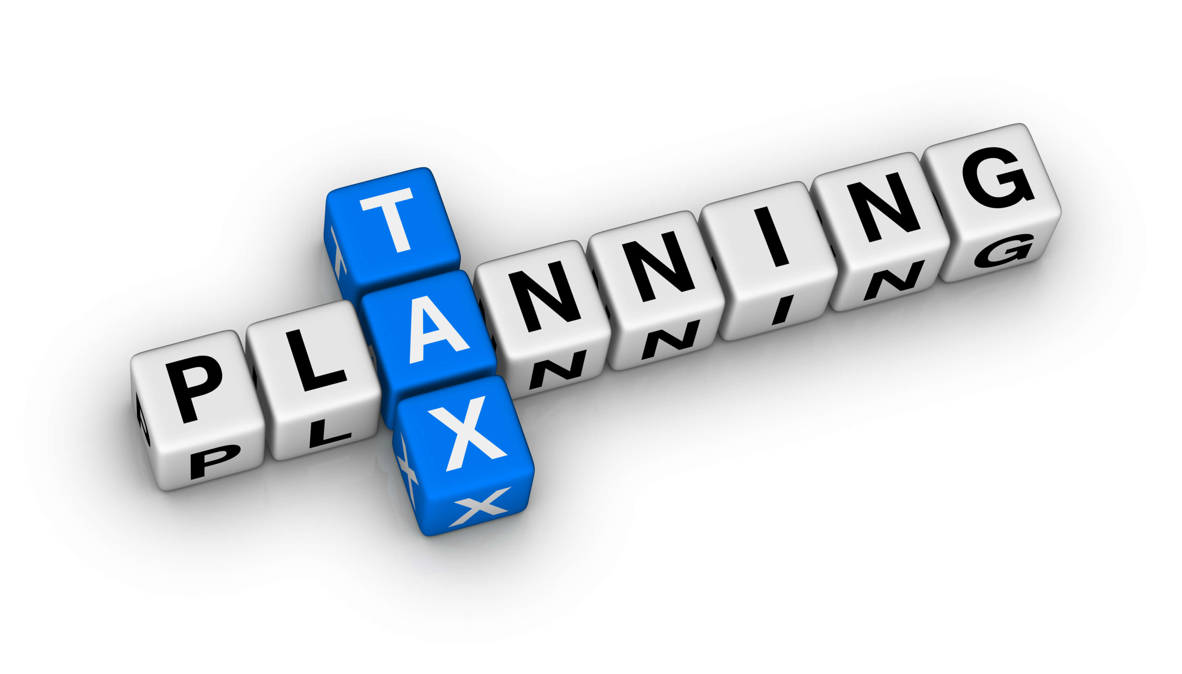 Tax planning within block scrabble letters